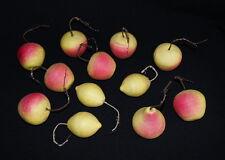 12  large Cotton Fruits - Christmas Ornaments    ~ 1950  (# 4594)