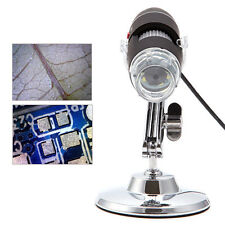 500X 8 Digital LED USB Microscope Zoom 5MP Endoscope PC Camera Video Magnifier