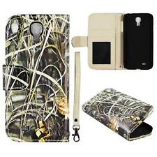 Flip Wallet Camo Grass For Samsung Galaxy S 4 i9500 Pu Leather Cover Case