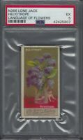 1888 Lone Jack Cigarette Co. Language of Flowers N366 Heliotrope Graded PSA 5