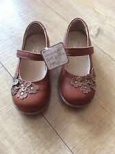 ** New Next Signature brown bronze floral appliqué butterfly shoes 24 7