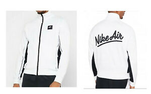 Nike Air Men's Track Jacket Full Zip Up Hoodie New White XXL 2XL RRP £69.95