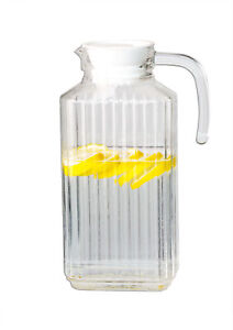 Arcoroc Kühlschrankkrug 1,7L Glaskrug mit Deckel Wasserkaraffe Saftkrug Kanne
