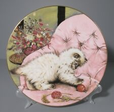 "1985 Hamilton Collection Royal Worcester ""Little Rascal"" Kitten Classics Plate"