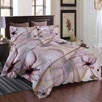 Brown Petal 3D Printing Duvet Quilt Doona Covers Pillow Case Bedding Sets