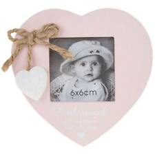 Vintage Shabby Chic Baby Girl Pink Photo Frame Gift With Heart 56887