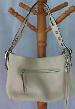 COACH IVORY PEBBLED LEATHER SPLIT HANDLE HANDBAG #1429 AUTHENTIC