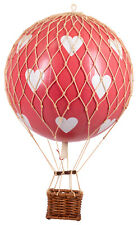 "Valentine's Day Red Hearts Hot Air Balloon Model 7"" Hanging Aviation Decor Gift"