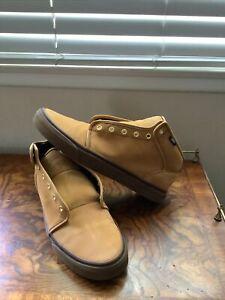 Vans Hi Top Tan Unisex Men's US10.5 Women's US12 Leather Athletic Shoes
