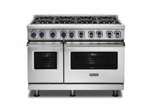 """Viking 7 Series 48"""" Gas Range & Free Dishwasher- VGR74828BSS"""