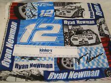 "Ryan Newman NASCAR #12 Cotton Fabric Remnant 23""W x 16""L"