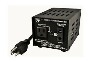 VCT VT-500J - Japanese Step Up/Down Voltage Transformer Converts Japan 100 Vo...