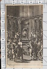 1709 VIRGIL AENEID PRINT Du Guernier KING ON THRONE GREEK/ROMAN
