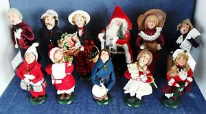 BYERS CHOICE LTD - LOT OF 11 DOLLS - 1995 TO 2008 -