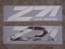 Chevy Z71 Off Road 4x4  Truck Mirror Chrome Decals Stickers Tahoe Silverado