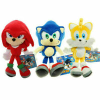 FOR Sonic The Hedgehog Knuckles Silver Tails Stuffed Teddy Bear Soft Toy Anime