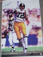 TERRY BRADSHAW Signed Auto Pittsburgh Steelers 33x22 Canvas Photo JSA COA