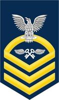 "Aviation Storekeeper AK Navy Chief E-7 Gold 5.5"" Rank Sticker / Decal"