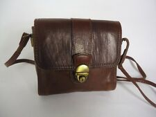 FAVOLOSI vintage marrone in pelle borsa a tracolla borsa a tracolla