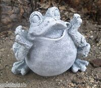 """Latex frog mold plaster cement casting garden mold mould 3""""H x 3.5""""W"""