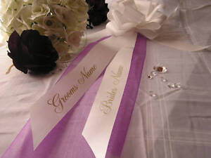 Wedding Pew End Bows Church Decoration ALL Colours  personalised FREE