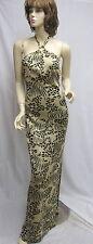 St. John Knit EVENING NWT Black Gold Animal print paillettes DRESS SZ 8