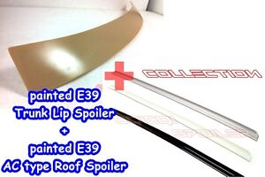 Painted Roof + Trunk Lip Spoiler For BMW  E39 5-series color-303 Cosmos Black ◎