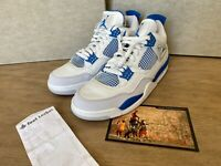 Nike Air Jordan 4 Retro Military Blue Size 11 Deadstock New