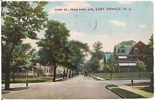 Park Street From Park Avenue in East Orange NJ Postcard 1911