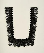 Large Black Embroidered Lace Yoke Applique - Collar - Eb2