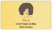 IT IS REAL- Crack A Smile Lip Balms - 5 choco hazelnut