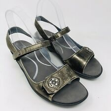 Naot Women Reserve Sandals Shoes Sz 38 7 Metal Jeweled Comfort Pewter Walking