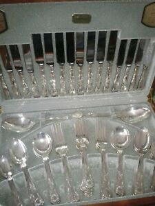 VINERS 8 Place Setting KINGS ROYALE Sheffield Silver Plate Cutlery Set Cased