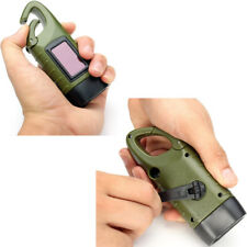 Rechargeable solar torch Hand crank flashlight Emergency army lamp Hike/Travel