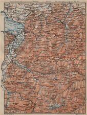 VORARLBERG & BREGENZER WALD. Bludenz St Anton Zürs Lech See Ischgl 1911 map