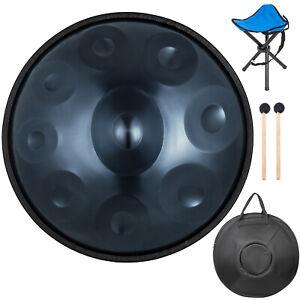 "22"" 9 Notes Hand Pan Drum Handpan in D Minor Warmer Hand Drum + Bag +Stand"