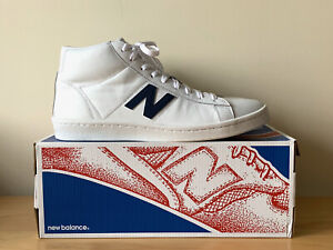 New Balance 891 J. Crew High Top Leather Sneakers White Blue 10.5 New w/ Box