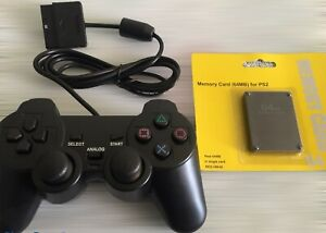 For PS2 PlayStation 2 - Controller and 64MB Memory Card Wired Replacement NEW