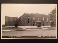 Vintage Cornell Auditorium RPPC Cornell, WI Wisconsin Real Photo Postcard B7