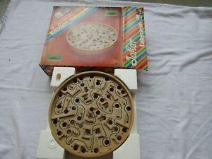 RARE ROUND Labyrinth maze Brio made Sweden original box vintage game directions