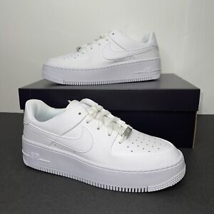 New Nike Women's Air Force 1 Sage Low Triple White AR5339-100 Size 9