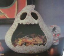Candy Dish Halloween Ghost Boo Avenue Scary Ceramic Open Mouth Candy Bowl Dish