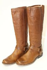 John A Frye 76850 Philip Harness Tall Womens 8.5 Brown Leather Riding Boots hjz