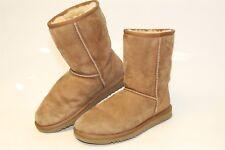 UGG Australia Uggs 5825 Classic Short Womens 8 Brown Suede Sheepskin Boots j