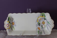 """ROYAL ALBERT ENGLAND CROWN CHINA 'NARCISSUS' 11"""" X 5"""" SANDWICH TRAY c1920's"""