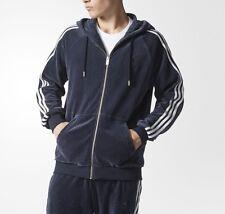 SMALL  adidas Originals MEN'S Slim Fit  VELOUR TRACK TOP & TRACK PANTS  2PC SET