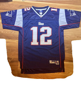 New England Patriots Tom Brady Throwback Football Jersey Size XL Reebok NFL