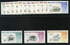 Mint Hinged Birds Falkland Island Stamps