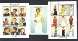 Princess Diana, John Kennedy, Jackie Kennedy Stamps Certificate of Authenticity