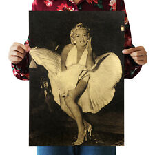 Hot Marilyn Monroe Vintage Kraft Paper Poster Coffee Art Fashion A Style